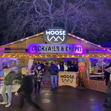 marquee at Winter Wonderland for Moose drink