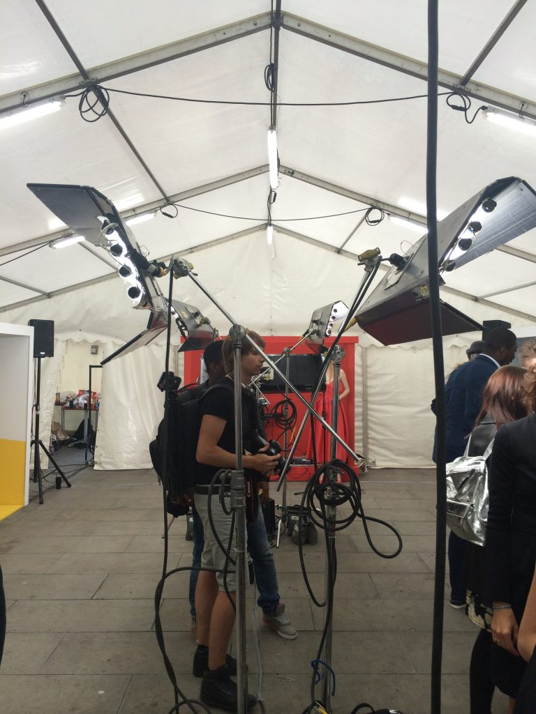 marquee used for additional space for London Fashion Week