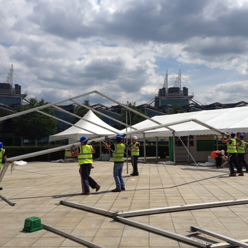 Marquee used for bespoke solutions