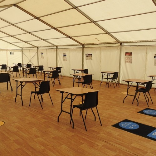 Temporary classrooms for a client in the education sector, providing additional space due to Covid-10 restrictions