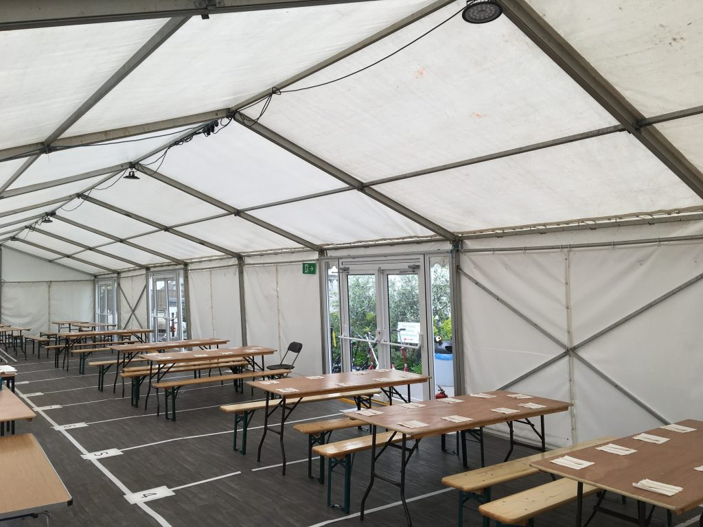 temporary space for a school used as a classroom for extra space for students