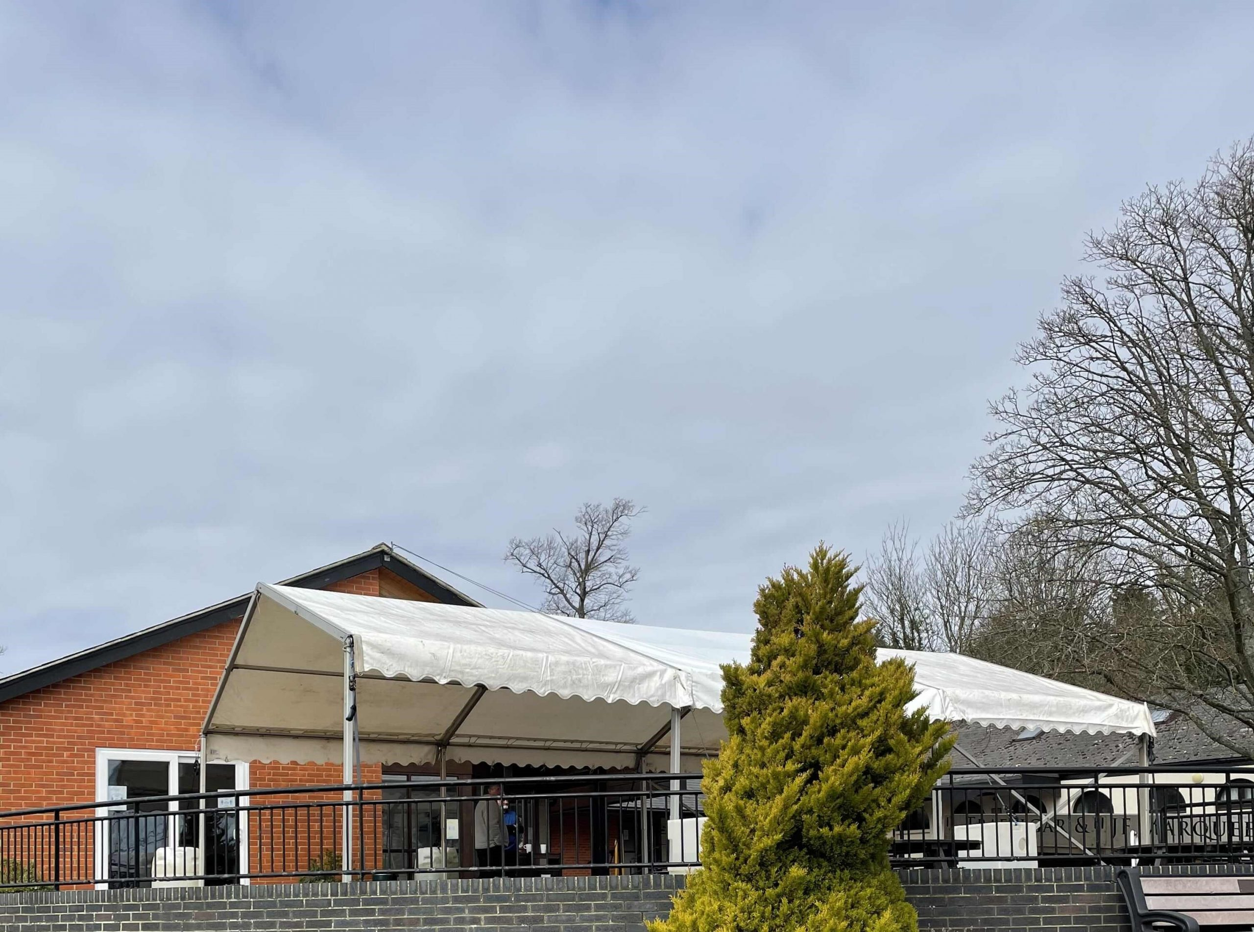 Marquee put up for extra space for Southwick Park Golf Club